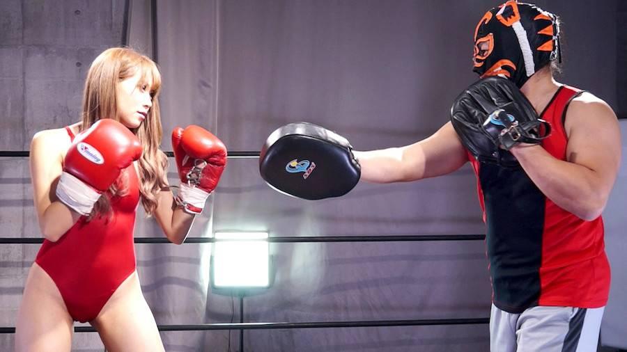 【HD】巨乳トップレスボクシング外伝3 -星空もあ 一人だけトップレスボクシング- サンプル画像01