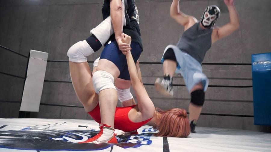 【HD】バトル ファンミーティング開催記念 スペシャルMIX男女混合タッグマッチ YUE&橘@ハム組VS男子レスラー組 サンプル画像09