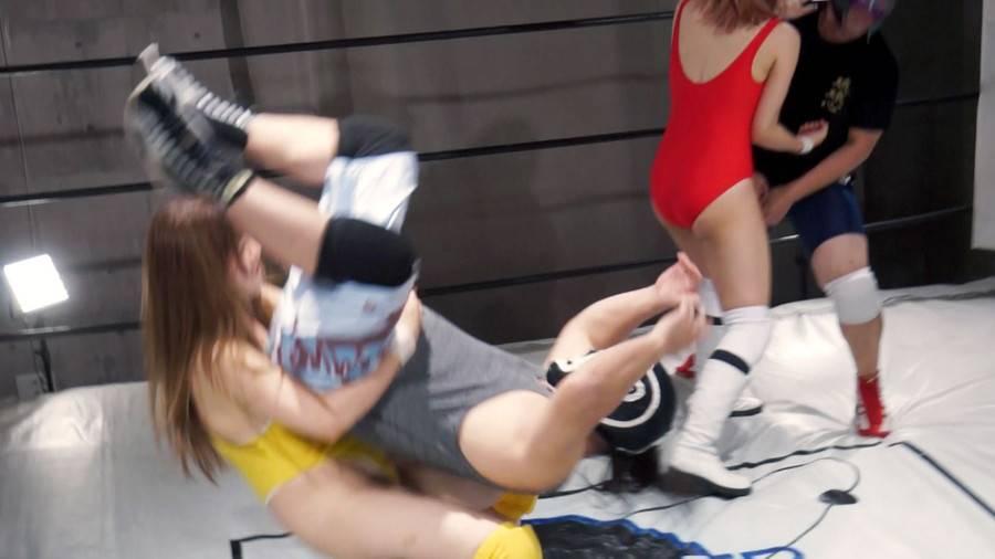 【HD】バトル ファンミーティング開催記念 スペシャルMIX男女混合タッグマッチ YUE&橘@ハム組VS男子レスラー組 サンプル画像10