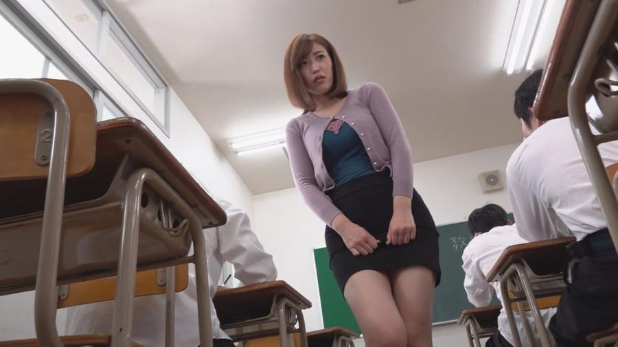 女教師が教室で生徒に脅されこっそりオナニー サンプル画像06