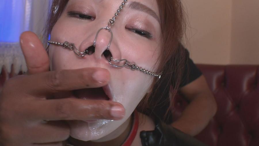喉責め鼻フック サンプル画像05