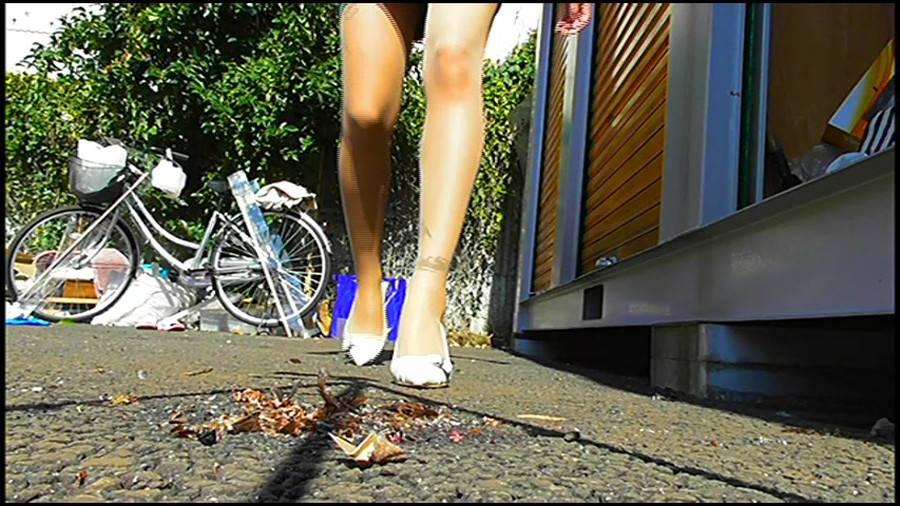 黒髪女性が生ストッキングで巨大ゴキブリを踏み潰す!-後編- サンプル画像11
