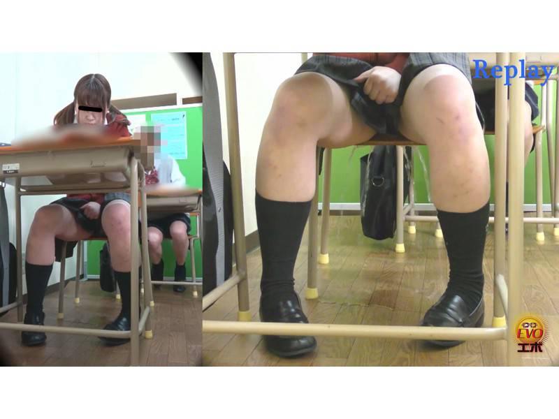 学習塾盗撮 授業中に滴るおしっこお漏らし4 サンプル画像10