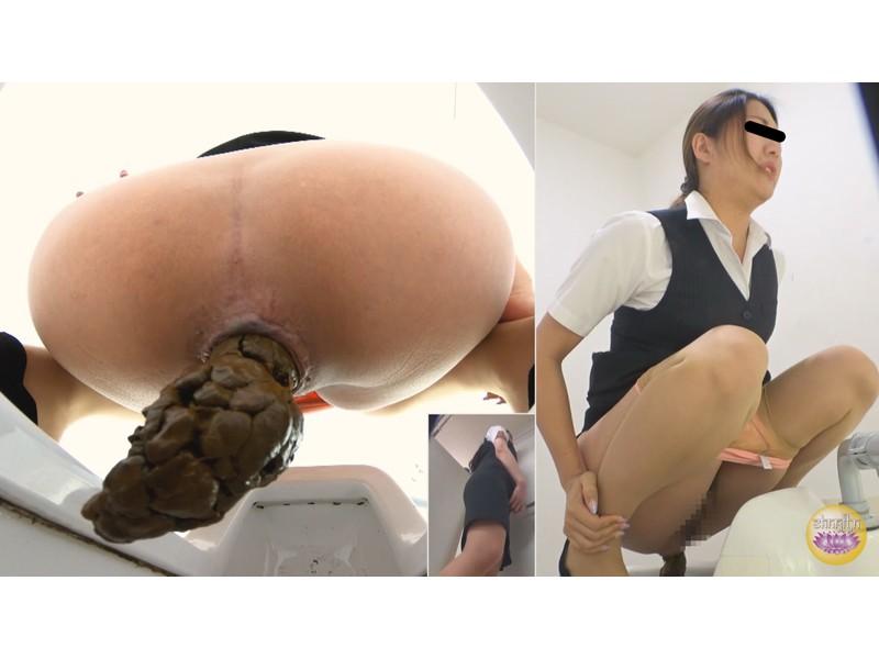 社内トイレ 超気まずい…OLオナラ大便 サンプル画像28