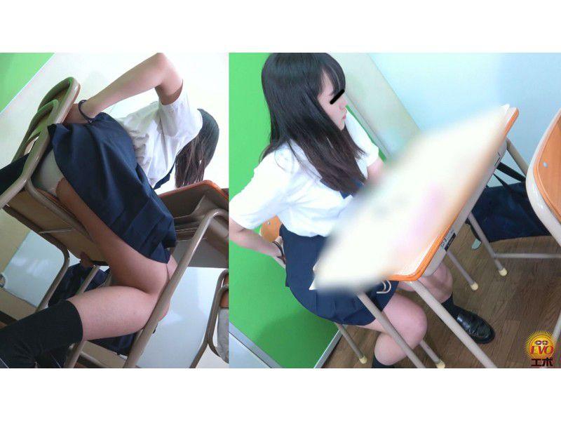 盗撮 授業中の女子校生 みんなにバレてる?おなら サンプル画像8