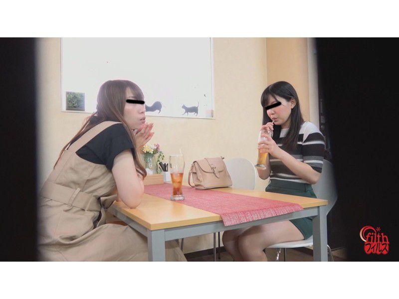 ぴーぴんぐカフェトイレ おまる座りでウンチする女たち サンプル画像19