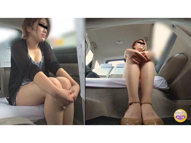 悪徳タクシー 高速道路暴走放尿 サンプル画像9