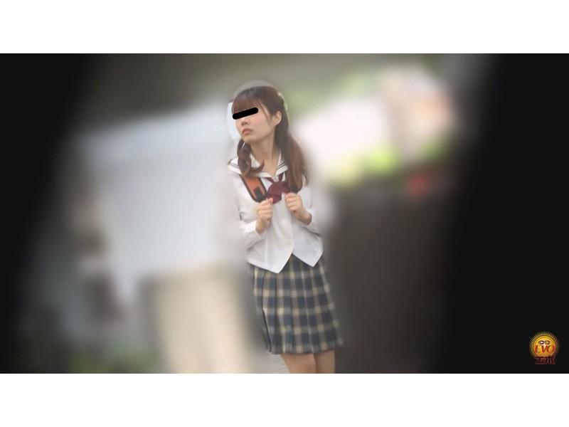 覗撮 帰宅までガマンできない女子校生の 部室裏トイレ自慰ストーリー サンプル画像29