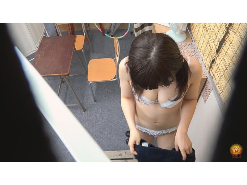 覗撮 帰宅までガマンできない女子校生の 部室裏トイレ自慰ストーリー サンプル画像33