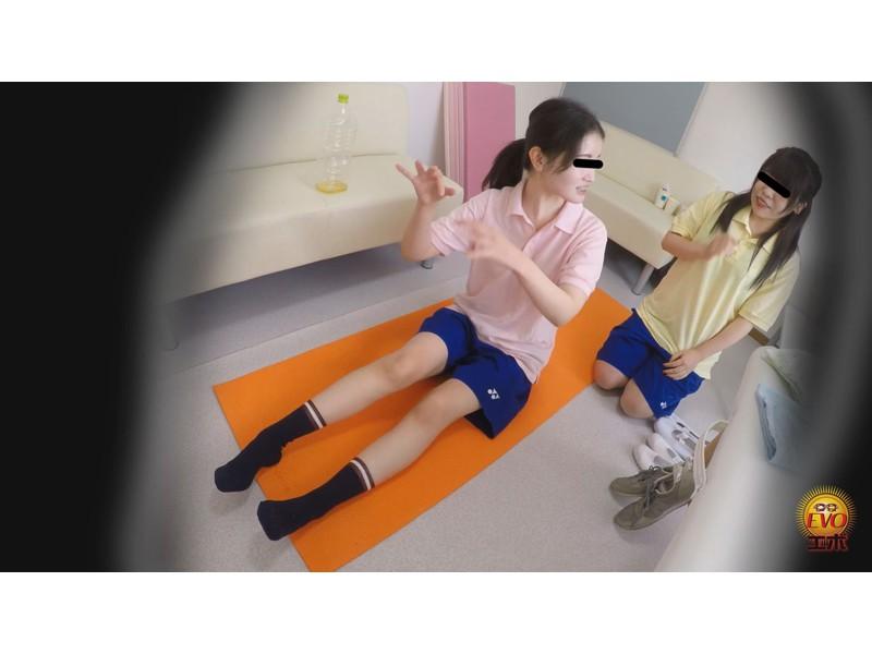 盗撮 部活シャワー室で尿を放出する少女達 サンプル画像17