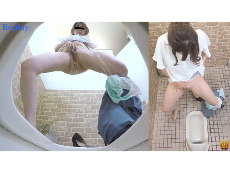公衆トイレ盗撮 豪快立ちションコレクション サンプル画像12