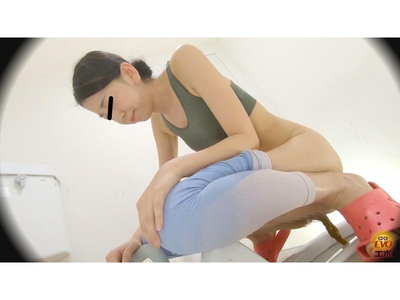 盗撮 ヨガウエア女子の健康うんこ サンプル画像14