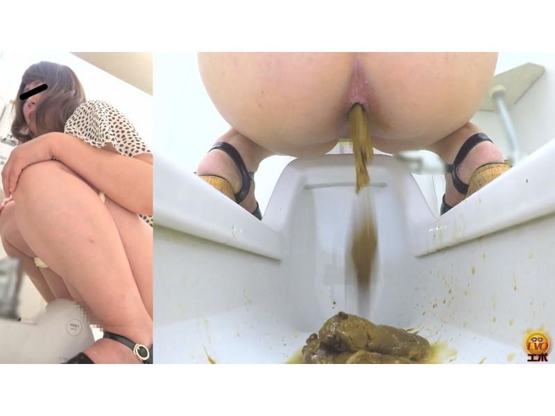 盗撮 長居座り 苦悶大便の女 下痢バージョン サンプル画像23