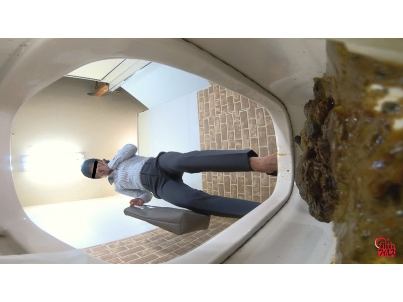 激臭!悶絶!トイレ盗撮 OL達の流れないウンチ サンプル画像11
