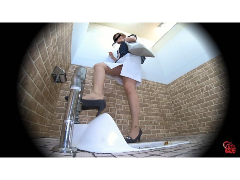 激臭!悶絶!トイレ盗撮 OL達の流れないウンチ サンプル画像16
