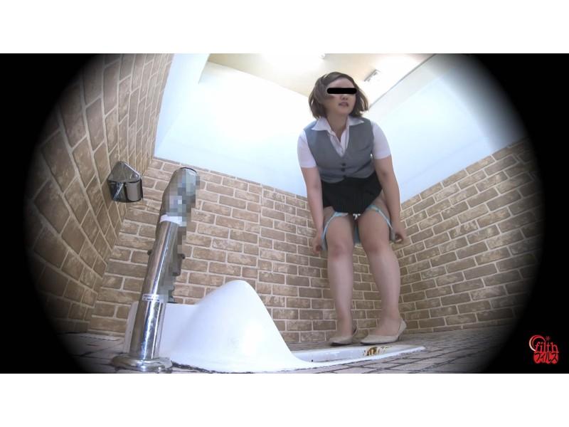 激臭!悶絶!トイレ盗撮 OL達の流れないウンチ サンプル画像18