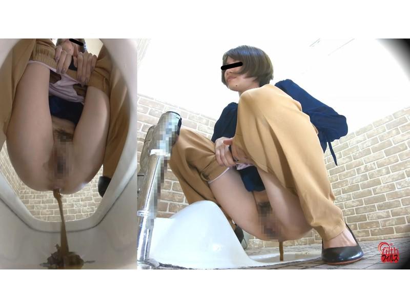 激臭!悶絶!トイレ盗撮 OL達の流れないウンチ サンプル画像3