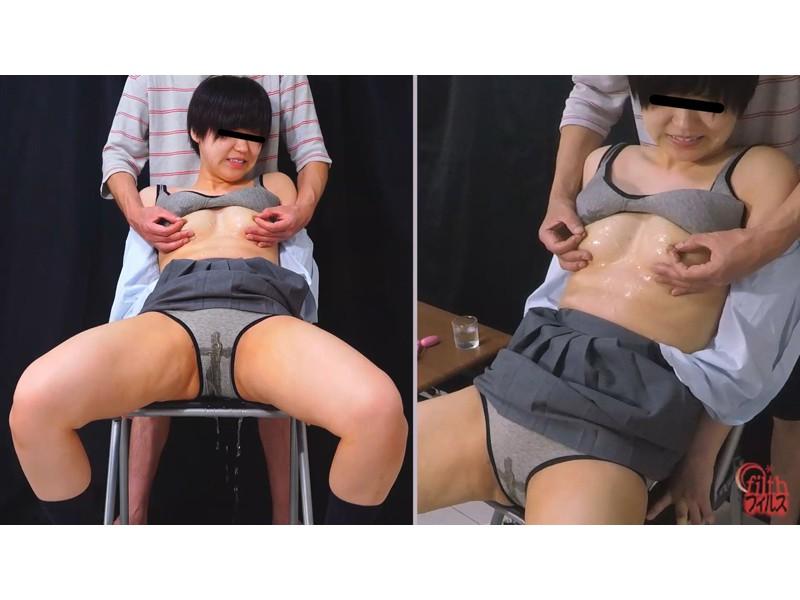 尿我慢女 乳首弄り失禁 サンプル画像12