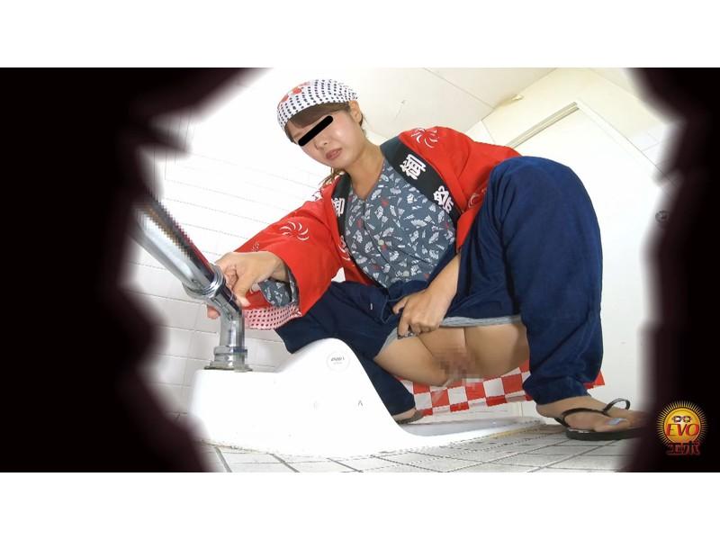トイレ盗撮 和服女子の和式おしっこ サンプル画像11