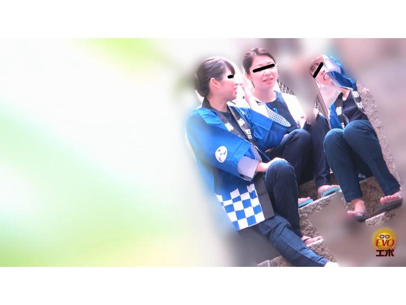 トイレ盗撮 和服女子の和式おしっこ サンプル画像5