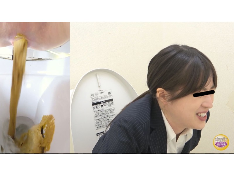 社内盗撮 便秘女の糞闘記録 硬い便と下剤軟便の日 サンプル画像5