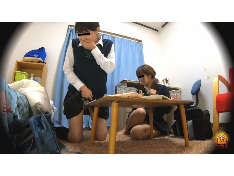 盗撮 前染みがじわじわ広がっちゃった少女達のおしっこ漏らし サンプル画像11