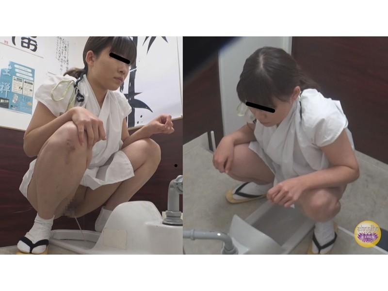 尿意爆発寸前 脱衣困難和装女子放尿 サンプル画像17