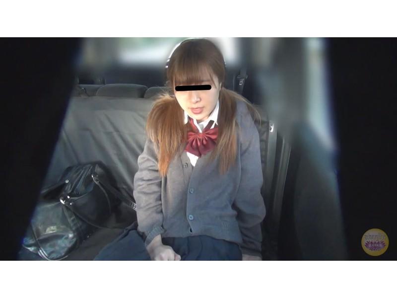 女学生 高速道路 車内お漏らし サンプル画像4