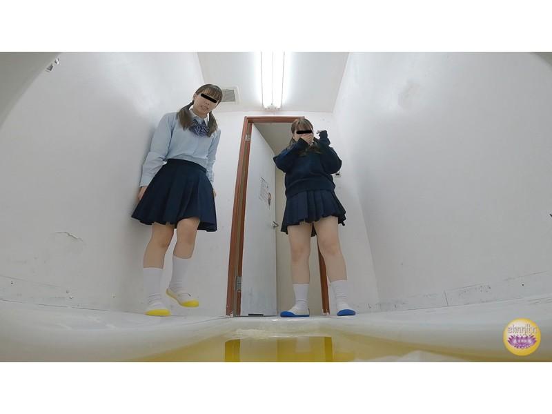 女子校トイレ 流れない激臭小便 サンプル画像1
