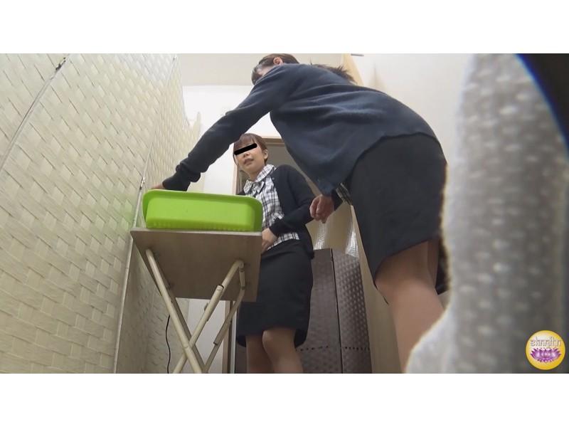 社内隠撮 OL大便記録7 新入社員入り 給湯室横トイレで気まずい排泄 サンプル画像1