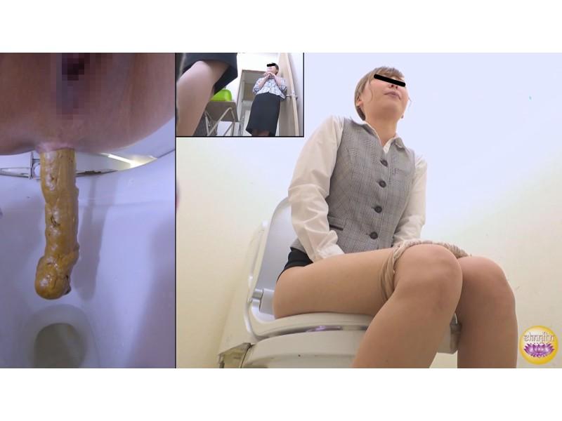社内隠撮 OL大便記録7 新入社員入り 給湯室横トイレで気まずい排泄 サンプル画像28