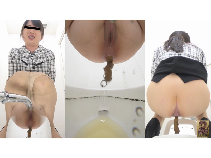 Front&Backダブルフルショット 制服美女の超放屁大便 サンプル画像1