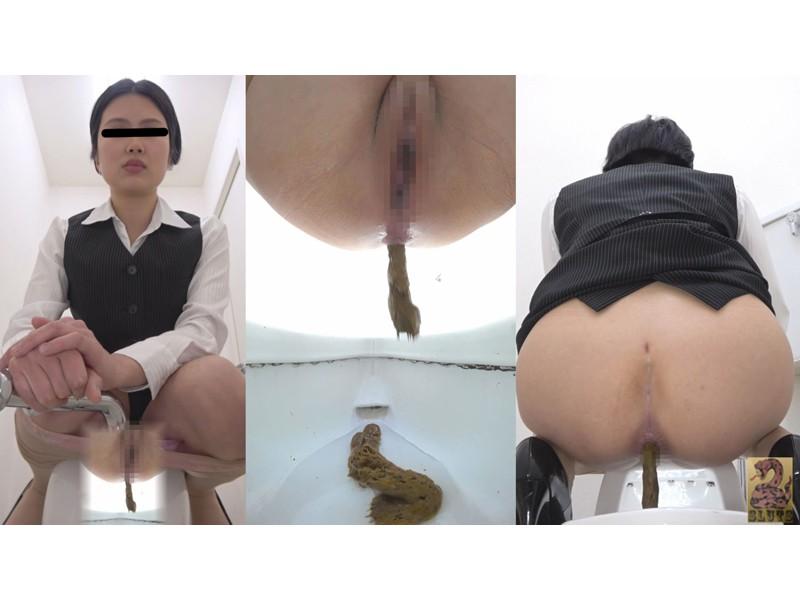 Front&Backダブルフルショット 制服美女の超放屁大便 サンプル画像24