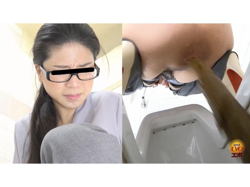トイレ盗撮 便秘女教師の苦悶×爽快 浣腸大便 サンプル画像6