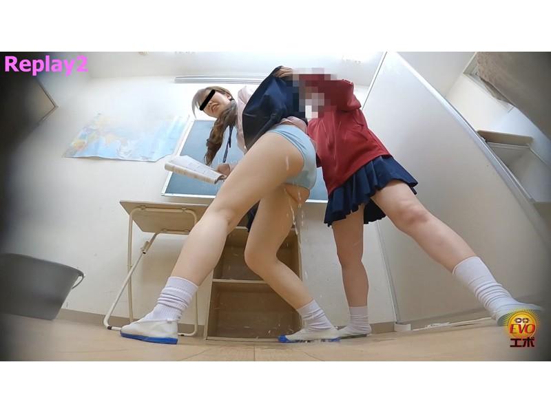 校内盗撮 びっくり仰天お漏ら失禁 女子校生スカートめくり編 サンプル画像2