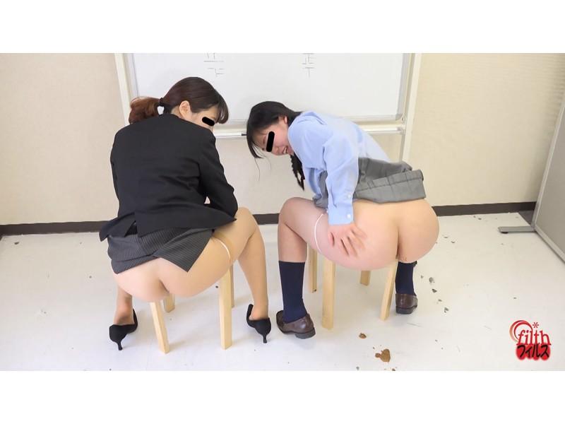 女子校生とOLのおならの数勝負!!3 がんばり過ぎちゃって汚物パラダイス サンプル画像8