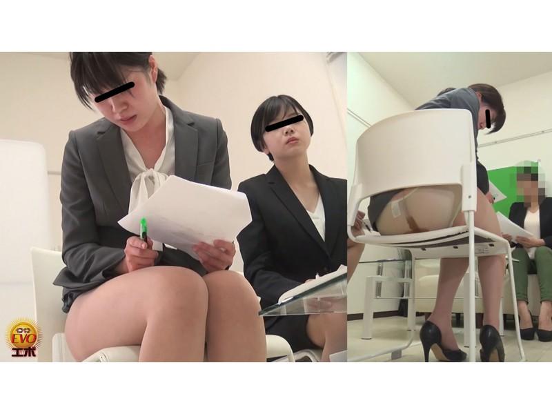 社内隠撮 おならに誘発されてしまった OLさん達のじわじわ下痢漏らし サンプル画像21