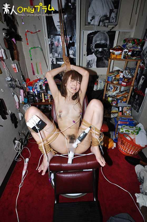 (強制)ふつ~の主婦を拘束して電マ放置でビクンビクンカクンカクン失神させてみた  サンプル画像12