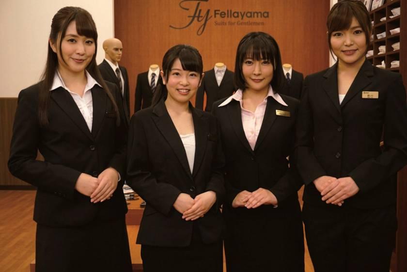 スーツ姿の女性従業員のフェラごっくんが人気のお店 紳士服のふぇらやま vol.2  サンプル画像3