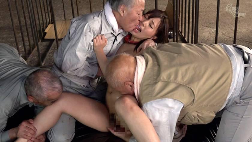 老働者に輪姦され性奴隷と化す巨乳未亡人 愛花みちる  サンプル画像8