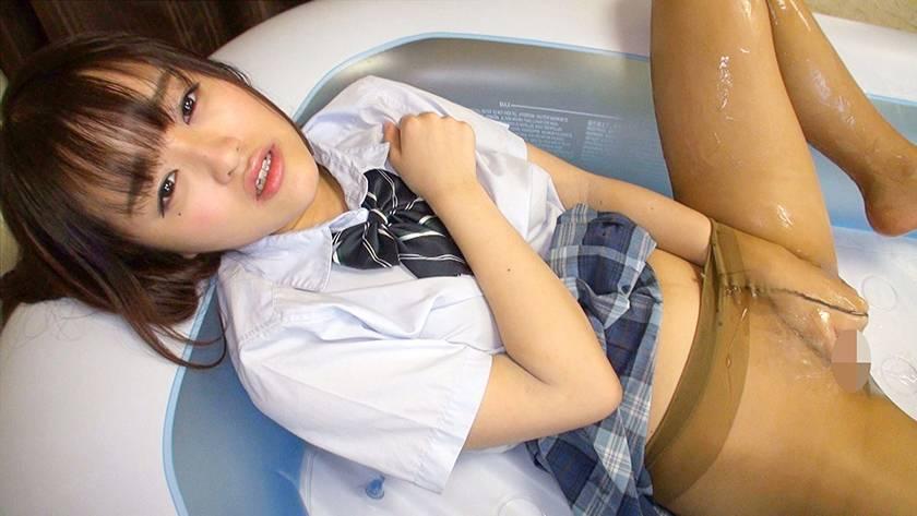神パンスト 乙咲あいみ 制服ロリ美少女の美脚を包んだ生ナマし サンプル画像11