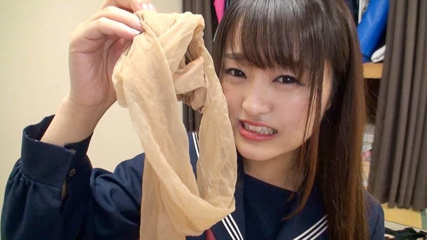 神パンスト 乙咲あいみ 制服ロリ美少女の美脚を包んだ生ナマし サンプル画像13
