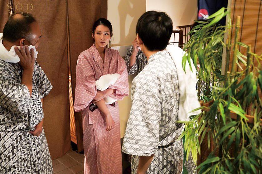 混浴社員旅行NTR 温泉好きな会社の先輩たちと、貸切家族風呂 サンプル画像1