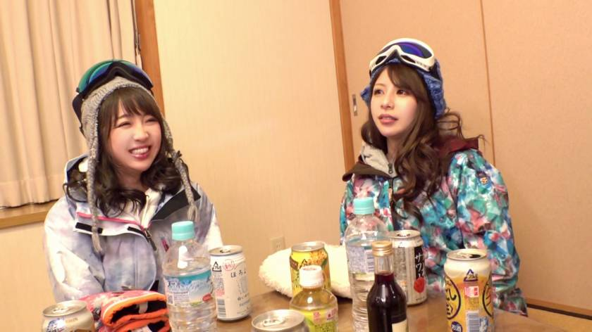 友達とスキーに来た地元民の看護師をナンパ!泥酔した酒乱女の巨 サンプル画像2