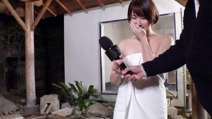 カップルに人気の混浴温泉でNTR企画!清楚なショートヘア美女が彼氏に内緒で他人棒ハメられ孕ませ汁受け入れww サンプル画像2
