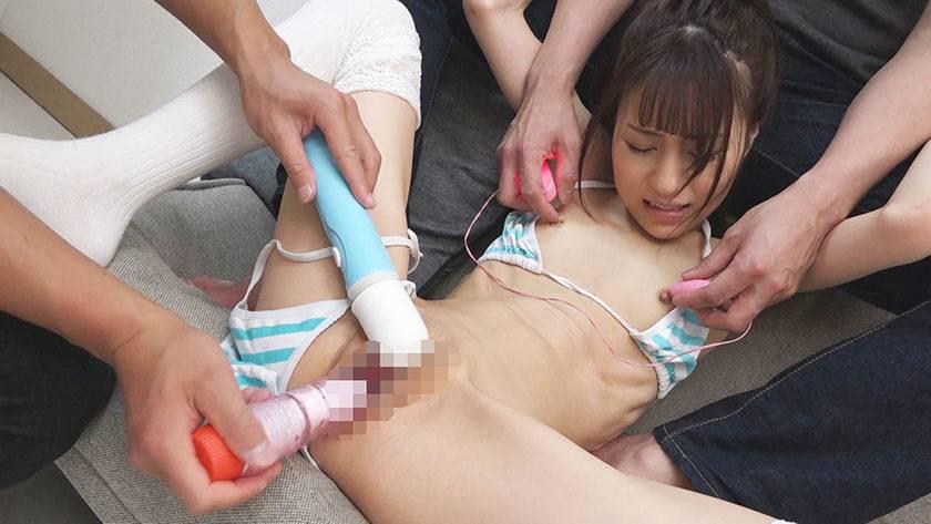 [個人撮影]#炉利露裏素人 #まな板貧乳なのに乳首でイク美少女 サンプル画像3