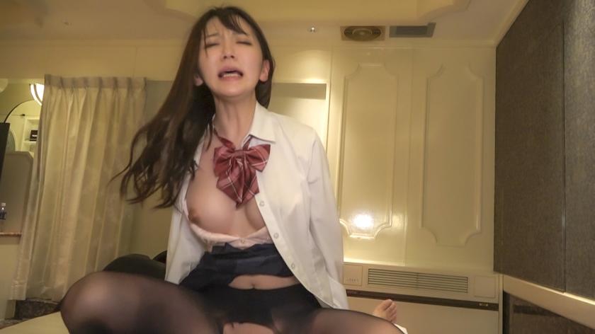 黒パンスト透けるJ●円光個人撮影 柔らかお膣の即イキ美脚娘み サンプル画像6