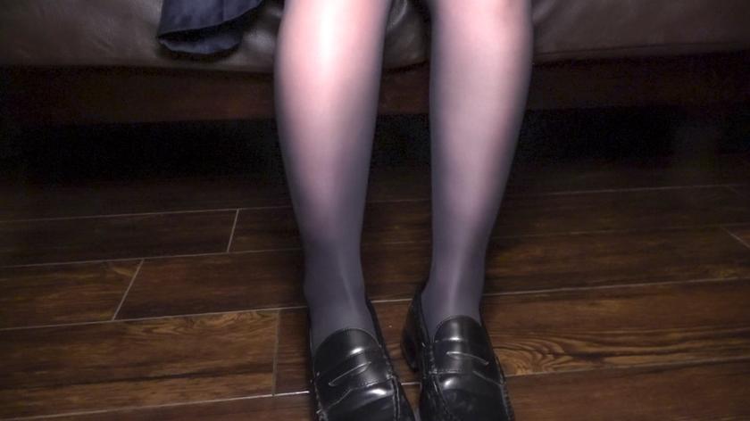 黒パンスト透けるJ●円光個人撮影 柔らかお膣の即イキ美脚娘み サンプル画像8
