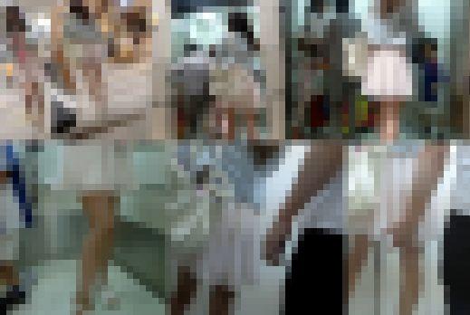【鬼畜スカートめくり21】~満員エレベーター内でめくられ大衆の前で下半身をあらわにされた女の子~ サンプル画像2
